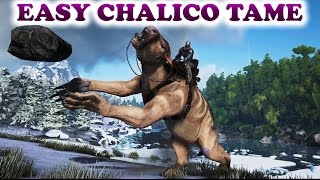 ARK Survival Evolved EASY CHALICOTHERIUM TAME (Chalicotherium gameplay)