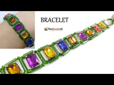 Браслет из Бисера и Страз Мастер Класс / Beebeecraft / Necklace From Beads And Straz Master Class