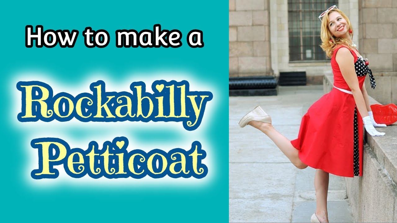 How to make a Rockabilly Petticoat - YouTube
