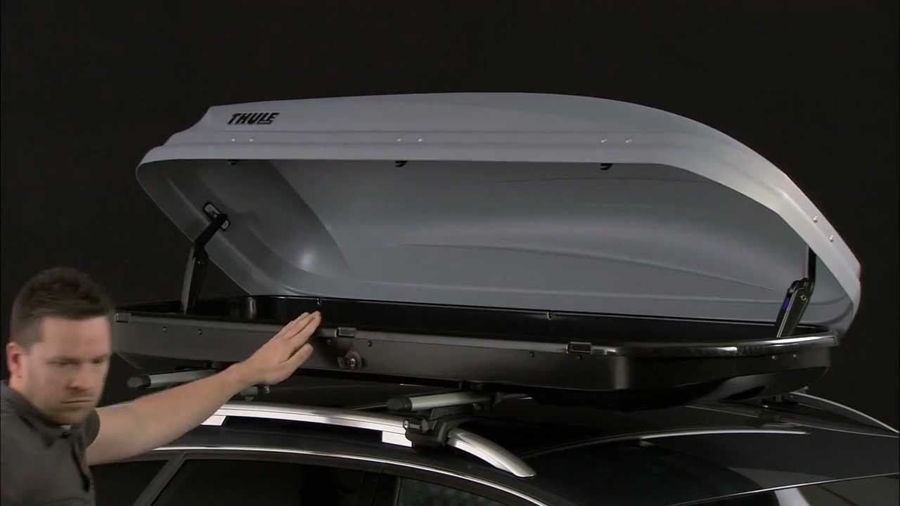 thule pacific roof box fitting guide youtube. Black Bedroom Furniture Sets. Home Design Ideas