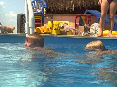 undie boys in the pool