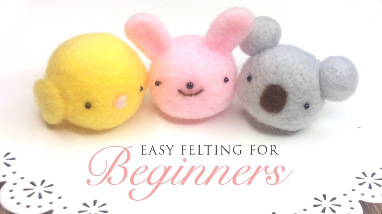 Lovely Dog Needle Felting Kit DIY For Beginners with Basic Tools Tutorial 4#