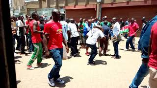 Harambee stars vs Ethiopia warm up at the cbd