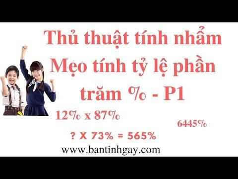 Thủ Thuật Tính Nhẩm - Mẹo Tính Tỷ Lệ Phần Trăm - P1 (Percentage Math Trick)