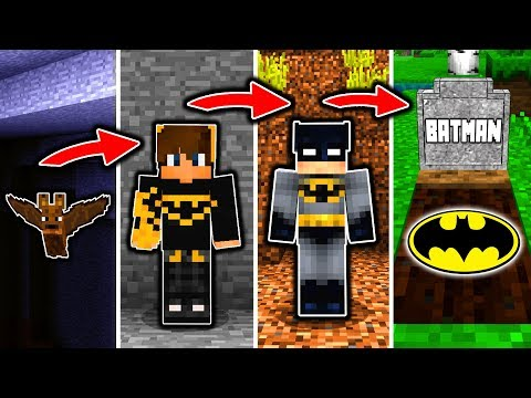 BATMAN LEBENSZYKLUS in Minecraft – Von einer FLEDERMAUS zum HELDEN