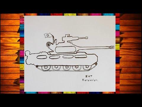 Ekt Karakalem Kolay Ve Basit Tank Cizimi Youtube