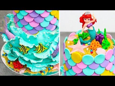 Ariel The Little Mermaid Cake Amazing Cake Decorating Ideas By Cakes Stepbystep Youtube