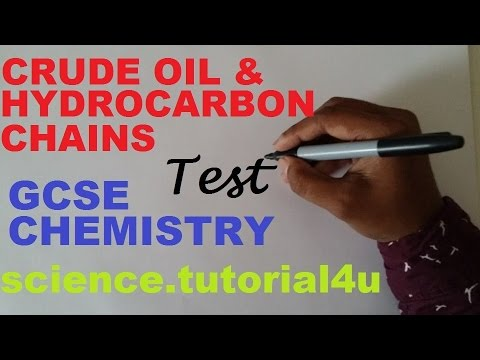 Crude Oil and Hydrocarbon Chain. TEST and REVISION