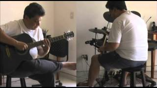 Playing Along Elastica 2:1 (Guitar and Drums)