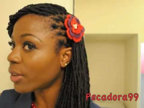 quick and easy lock hairstyle