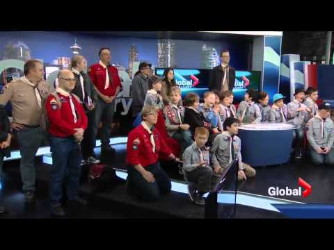 31st Scouts Visit Global Calgary