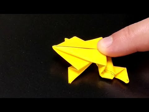 Origami Frog that Jumps far – Easy Instructions