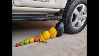 Crushing Crunchy & Soft Things by Car! - EXPERIMENT: FRUITS VS CAR