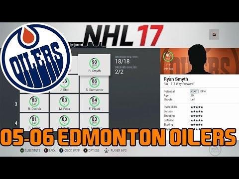 NHL 17: 05-06 Edmonton Oilers Throwback Team Build