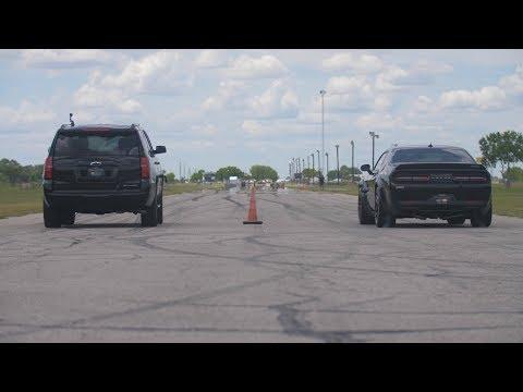 800 HP Tahoe RST vs 707 HP Hellcat Challenger Widebody