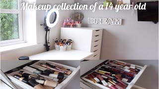 HUGE MAKEUP COLLECTION OF A 14 YEAR OLD!💄