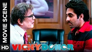 Technically i have become a papa | vicky donor | movie scene