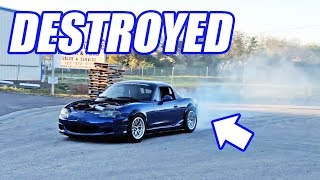 540HP V8 Miata Does Doughnuts and Street Pulls with a War Hero!
