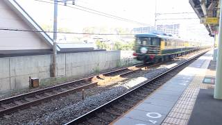 JR西日本 EF81 114(敦)+14系700番台 回送 島本駅 通過