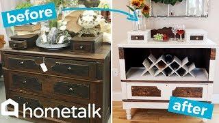 Dresser Makeover - Transform a Thrift Store Dresser Into a Beautiful Bar Cart! | Hometalk