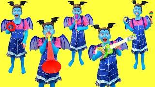 Five Little Monkey song with Junior Vampirina!!!