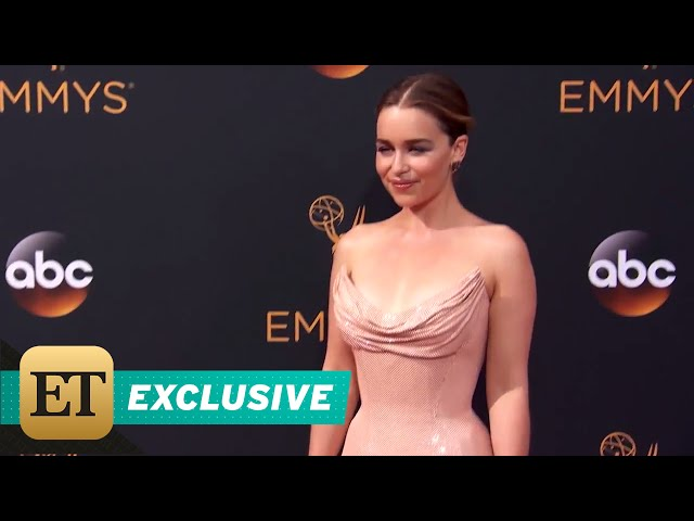 EXCLUSIVE: Emilia Clarke Reveals the Secret Underneath Her 'Chain Mail' Emmys Dress!