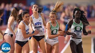 Oregon women win DMR at 2019 NCAA Indoor Track and Field Championships