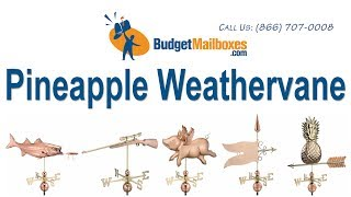 Budgetmailboxes.com | Good Directions 9635p Pineapple Weathervane - Polished Copper