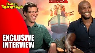Andy samberg and terry crews - exclusive 'cloudy with a chance of meatballs 2' interview (2013)
