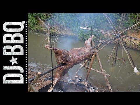 Water Wheel Spit Roast    DJ BBQ / Hunter Gather Cook