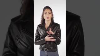 Deriza Anita Spor Kadın Deri Ceket Siyah