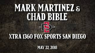 SDSU BASEBALL: MARTINEZ & BIBLE - XTRA 1360 FOX SPORTS SAN DIEGO - 5/22/18