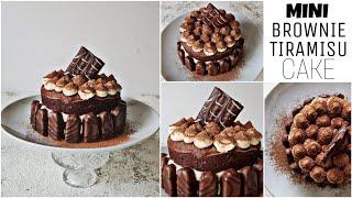 Mini BROWNIE TIRAMISU Cake Classic    Tiramisu Cake by Topstovebaking