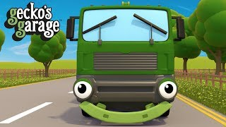 Garbage Truck Song | Street Vehicles For Toddlers | Gecko's Garage thumbnail