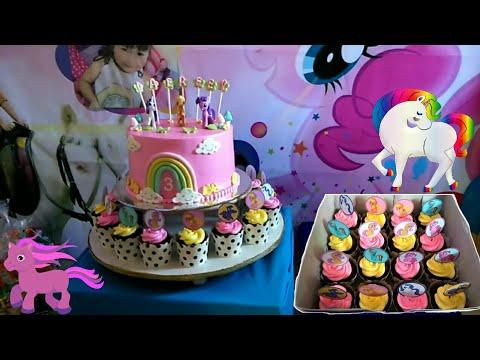 Unboxing Kue Ulang Tahun Kuda Poni Warna Pink Kue Ultah Anak Perempuan Murah Lucu