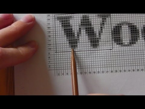 How to knit graphics pictures - YouTube