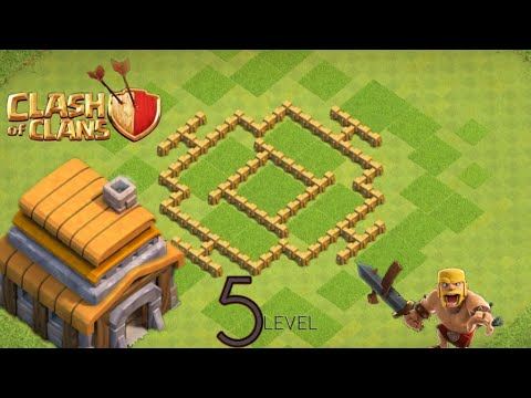 Clash Of Clans 5 Level Town Hall Base