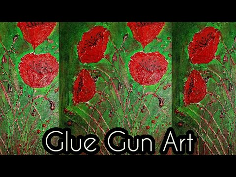 Hot glue gun art with acrylics/Paintings techniques for beginners