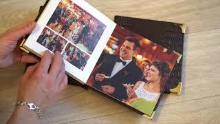 Свадебная фотокнига с металическим шильдом и уголками - произвоство в Твери.