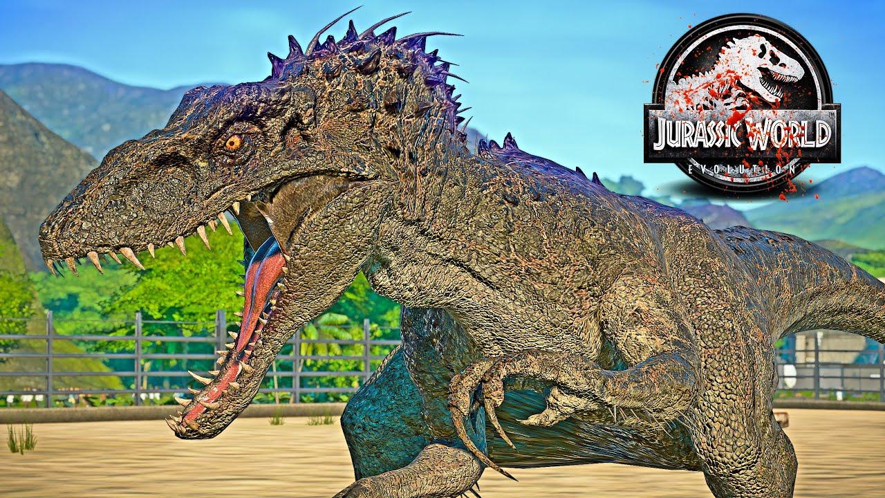 NEW! Northfire's Indominus Rex vs Tyrannosaurus Rex Dinosaurs Fight 🌍 JURASSIC WORLD EVOLUTION