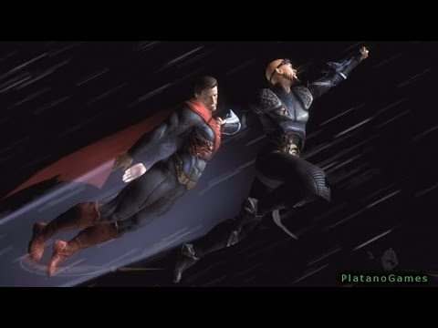 Superman vs General Zod - Kryptonian vs Kryptonian - Injustice: Gods Among Us - HD
