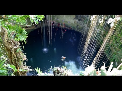 Walk Into The Cenote Swimming Hole Cancun Trip 2015 Youtube