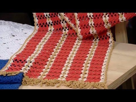 Crochetando com EuroRoma e Marcelo Nunes - Caminho de Mesa em Crochê Fiore
