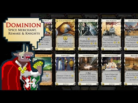 Dominion with Ethan, IB & Change - Spice Merchant, Remake & Knights
