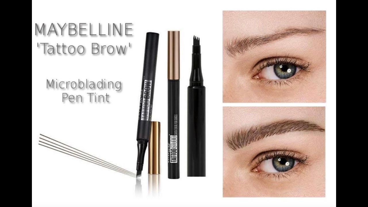 New Maybelline Microblading Pen Tint Tattoo Brow Review Youtube
