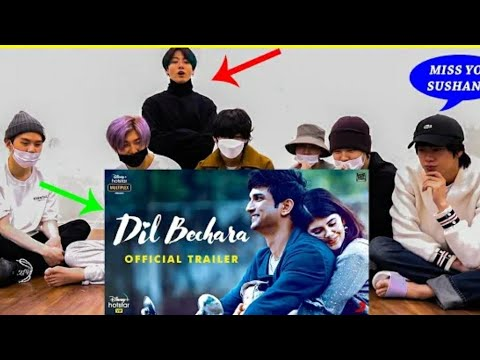BTS REACTS TO INDIAN SONG   BTS REACTION INDIA   DIL BECHARA BTS REACTION