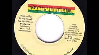 Gambar cover Man on earth riddim 1999 Xterminator Records mix selecta Sanjah I