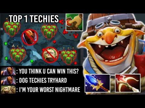 2000 IQ TECHIES VS ANTI MAGE Full Slot And +60 Armor Pudge EPIC Late Game Full Bomb Dota 2
