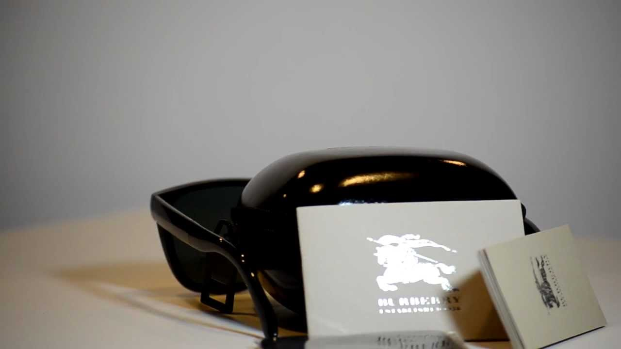 a610e3c8aa9b New Authentic Burberry Foldable Sunglasses BE4106 300187 BE 4106 Made In  Italy - YouTube