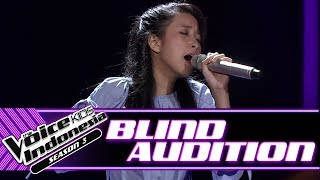 Nadhia - All By Myself | Blind Auditions | The Voice Kids Indonesia Season 3 GTV 2018